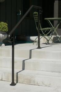 Exterior Handrails - Black Hawk Iron