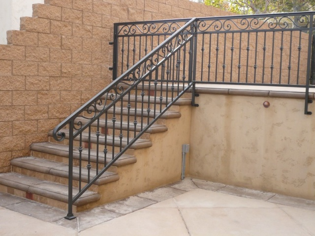 Exterior Handrails - Black Hawk Iron