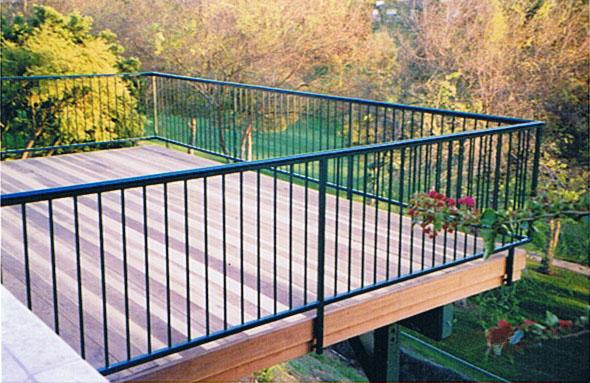 Balcony Railing 27 - Black Hawk Iron